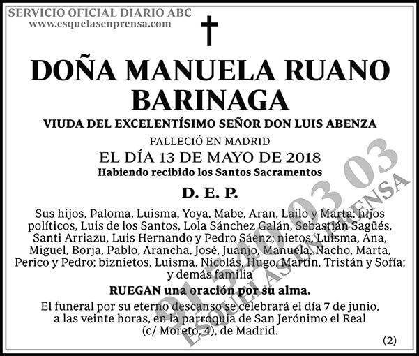 Manuela Ruano Barinaga